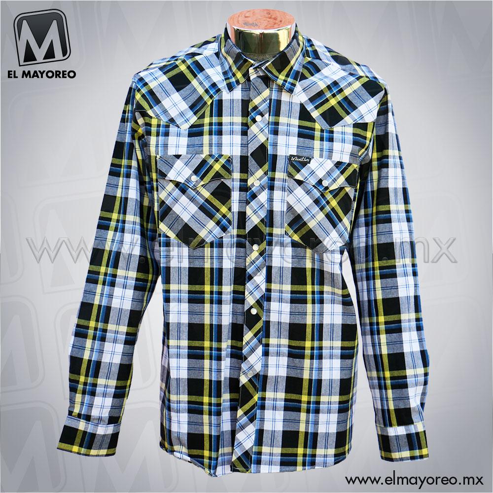 Camisa-Lenador-Cuadros-Azul-Marino-Linea-Amarilla-A