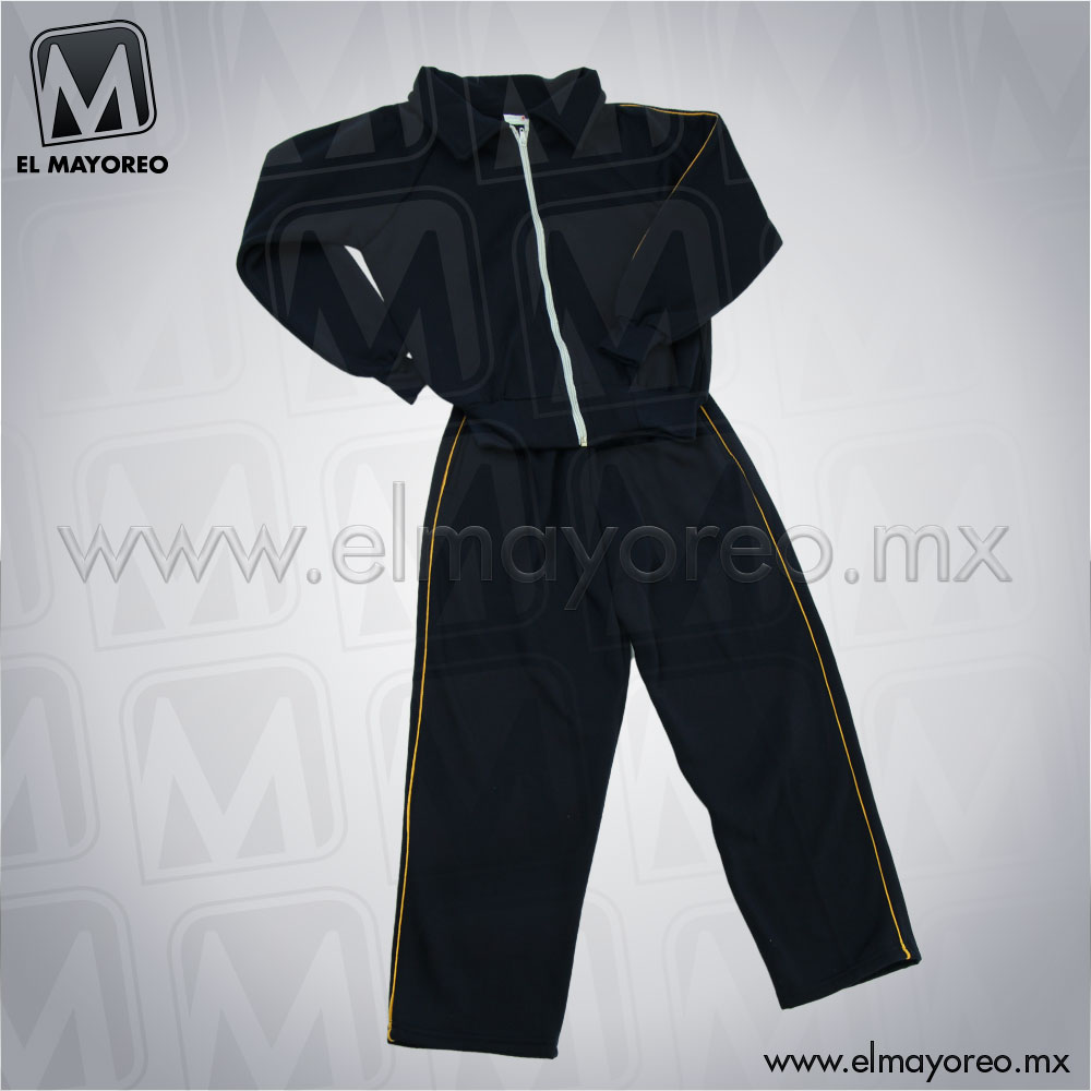 d7c5491a55606 Pants Felpa Escolar Azul Marino Línea Amarilla – El Mayoreo