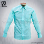 Camisa-Vestir-Lisa-Paquete-Azul-Aqua-A