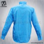 Camisa-Vestir-Lisa-Paquete-Azul-Turquesa-B