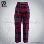 Pantalon-Boxer-Escolar-Escoces-Azul-Marino-Lineas-Rojas-y-Linea-Blanca-