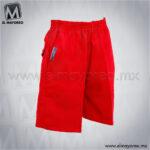 Short-Escolar-Tergal-Rojo