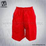 Short-Escolar-Tergal-Rojo-A