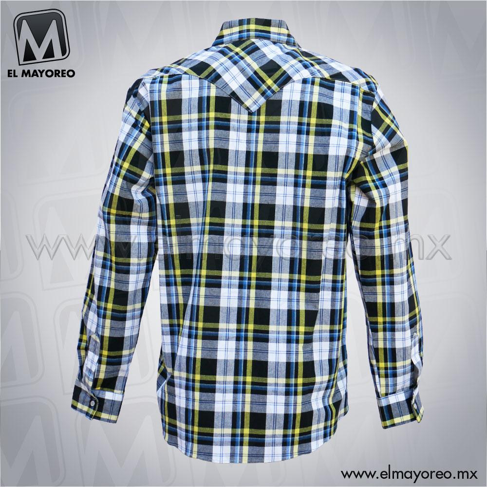 Camisa-Lenador-Cuadros-Azul-Marino-Linea-Amarilla-C