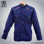 Camisa-Vaquera-Bordada-Azul-Marino-A