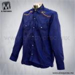 Camisa-Vaquera-Bordada-Azul-Marino-B