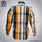 Camisa-Vestir-Manga-Larga-Cuadros-Azul-Marino-con-Amarillo-C