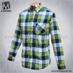 Camisa-Vestir-Manga-Larga-Cuadros-Azul-Marino-con-Verde-B