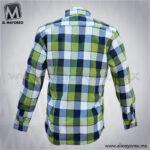 Camisa-Vestir-Manga-Larga-Cuadros-Azul-Marino-con-Verde-C