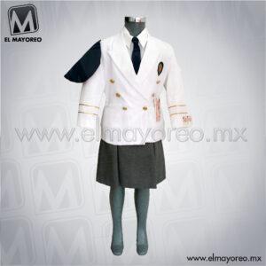 d6ab3540 Saco Blanco combinación Polilana Gris Oxford 2 · Leer más · Combinaciones,  Uniforme para Escolta